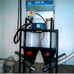 This weighing system blends feed accurately and delivers it to a Roxell Minimax system.