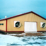 Gable end fans were included for increased summer ventilation